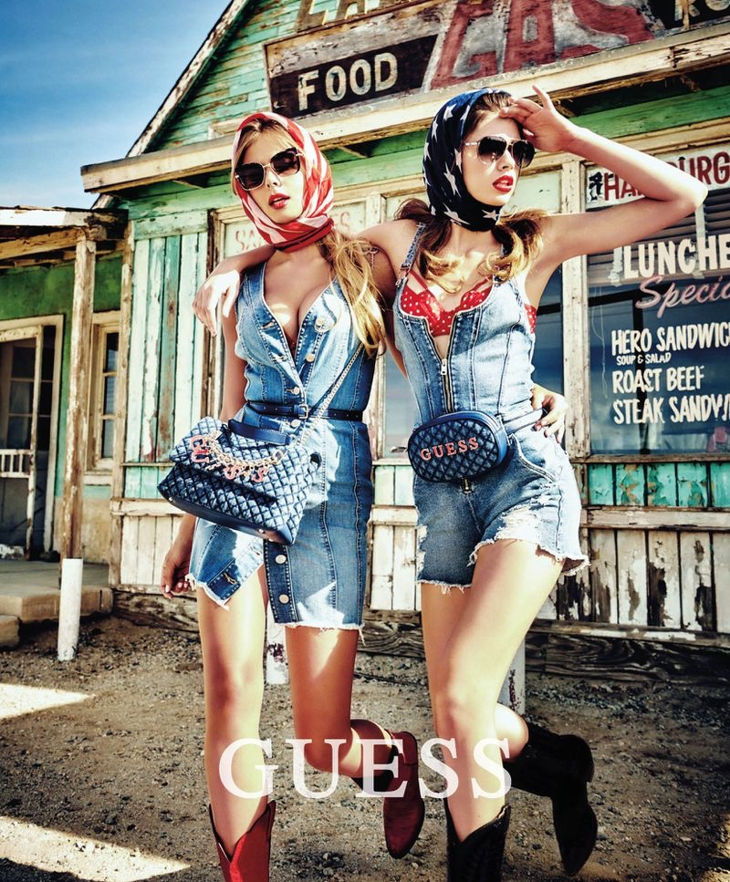 Mishel Gerzig and Gwen Van Meir star in Guess summer 2019 campaign