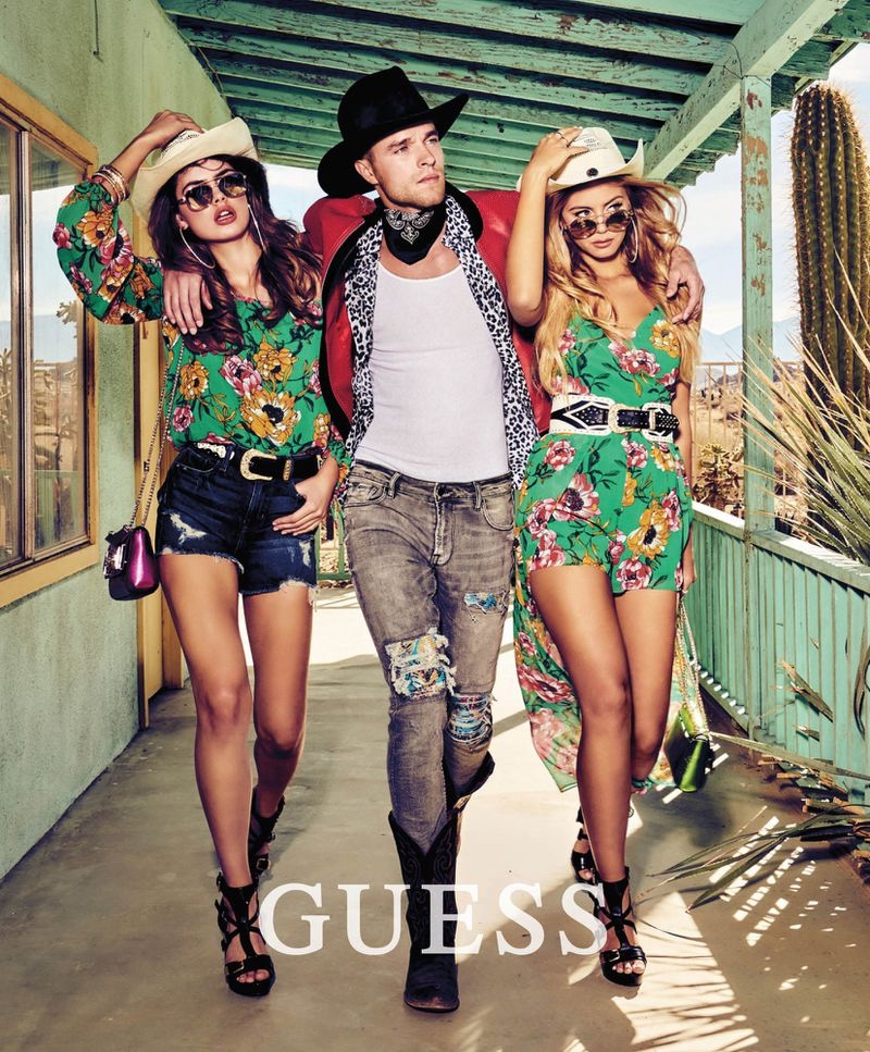 Guess spotlights tropical prints for summer 2019 campaign