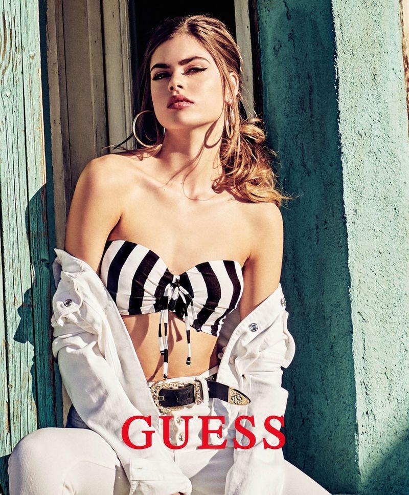 Gwen Van Meir fronts Guess summer 2019 campaign