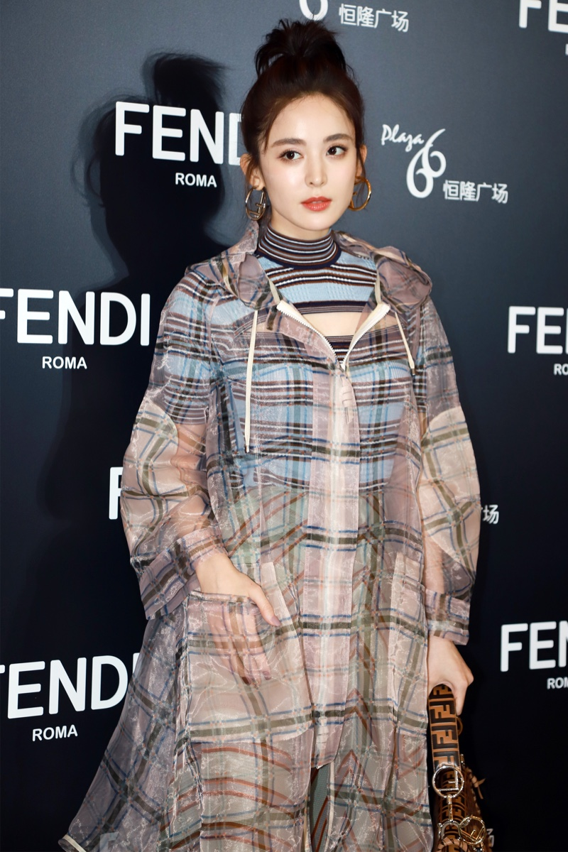 Gulnazar Guli at Fendi event.