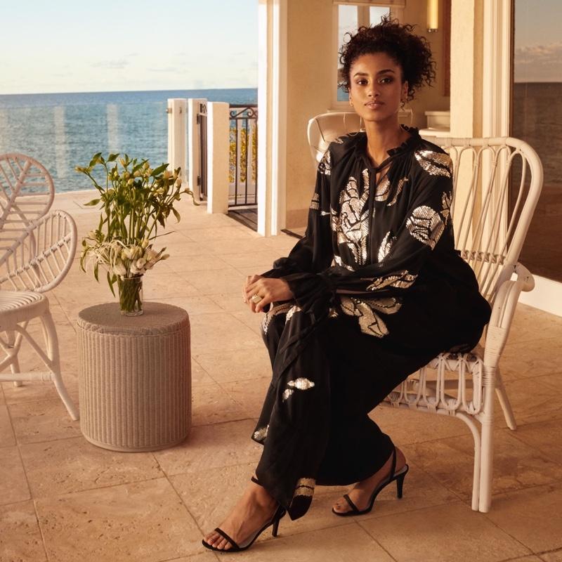 H&M Blouse & Wide Leg Pants with Sequins