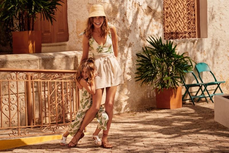 Andreea Diaconu stars in H&M Mini-Me summer 2019 style guide