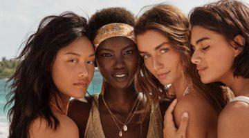 Andreea Diaconu, Anok Yai Hit the Beach for H&M Swimwear '19 Campaign