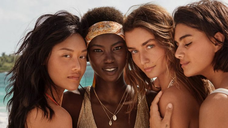 Andreea Diaconu, Anok Yai Hit the Beach for H&M Swimwear '19 Campaign