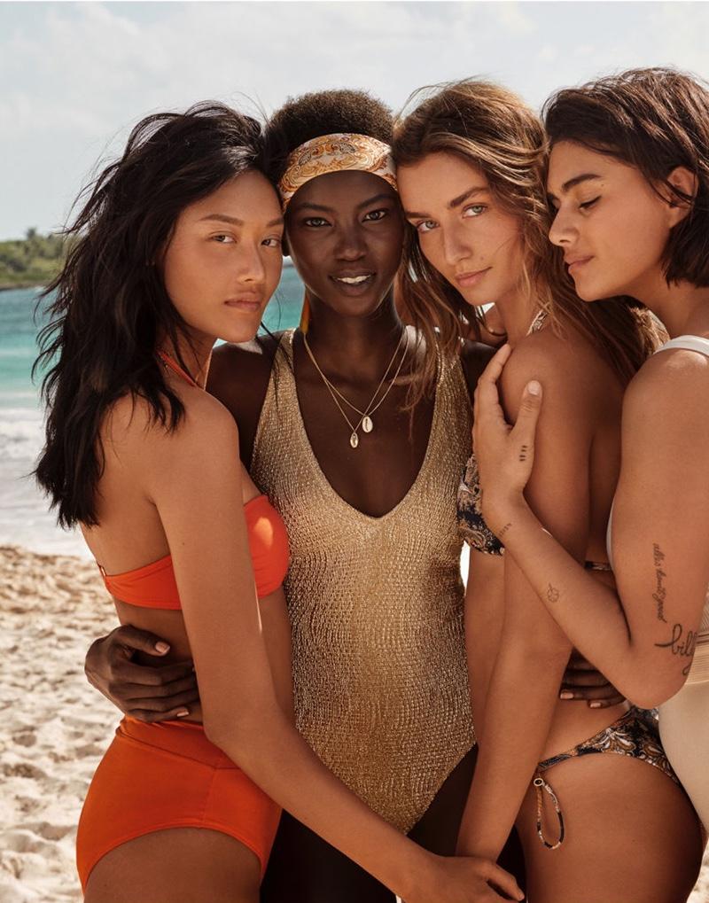 Jessie Li, Anok Yai, Andreea Diaconu and Jill Kortleve star in H&M Swimwear 2019 campaign