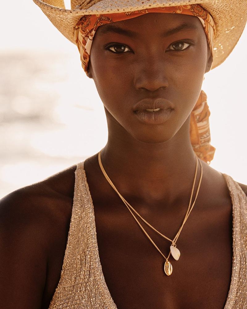 Model Anok Yai soaks up the sun in H&M Swimwear 2019 campaign