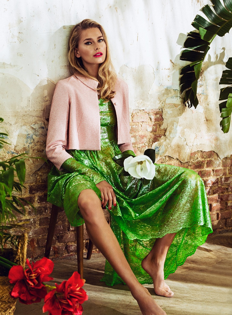 Hana Soukupova Models Tropical Prints for Woman Spain