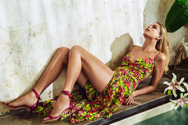 Hana Soukupova Models Tropical Prints for Woman Spain