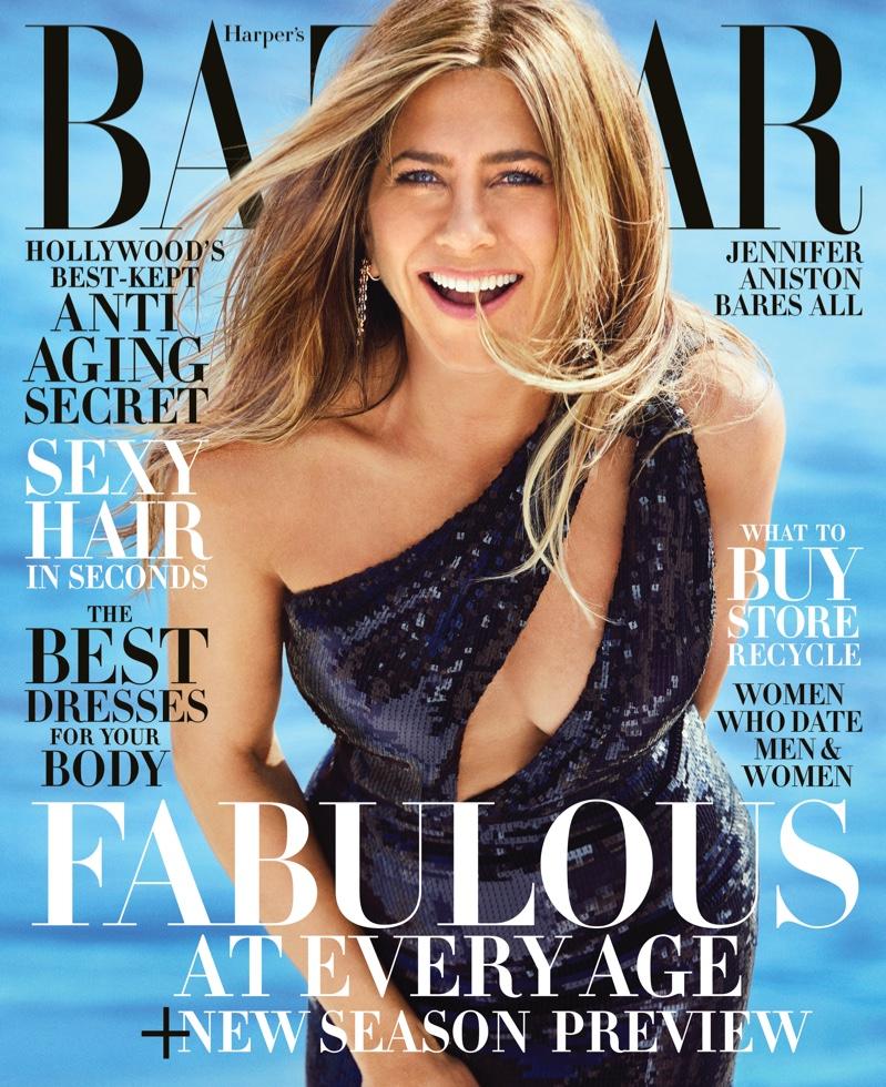 Jennifer Aniston on Harper's Bazaar US June/July 2019 Cover