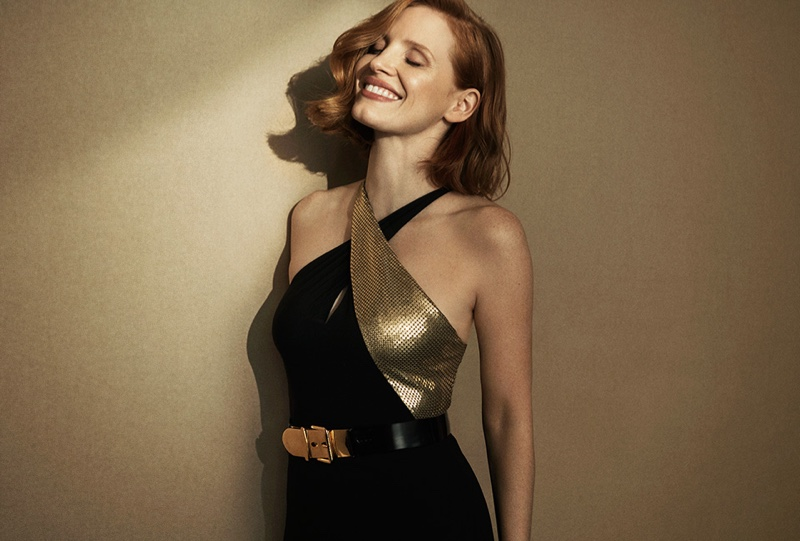 All smiles, Jessica Chastain fronts Ralph Lauren Woman Intense fragrance campaign