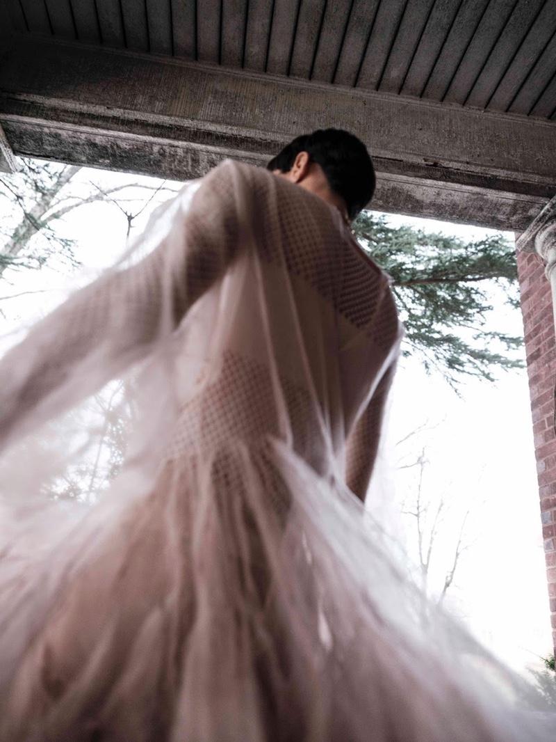 Jourdana Phillips Poses in Romantic Looks for Harper's Bazaar Arabia