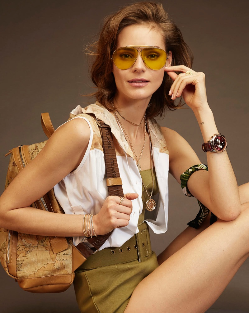 Juju Ivanyuk Models Safari Inspired Looks for F Italia