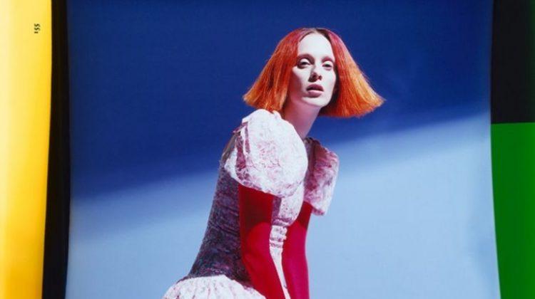 Karen Elson Enchants in Haute Couture for Dazed Magazine