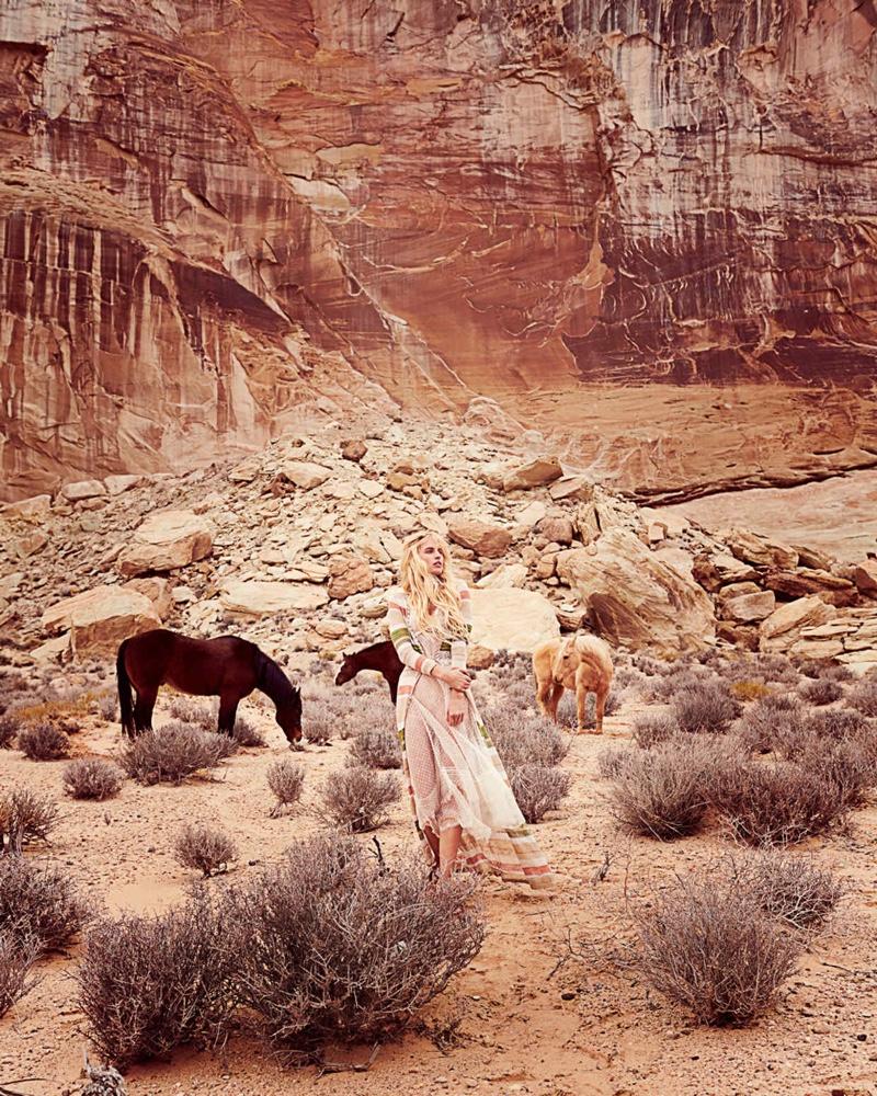 Karolina Kurkova Enchants in Romantic Dresses for How To Spend It