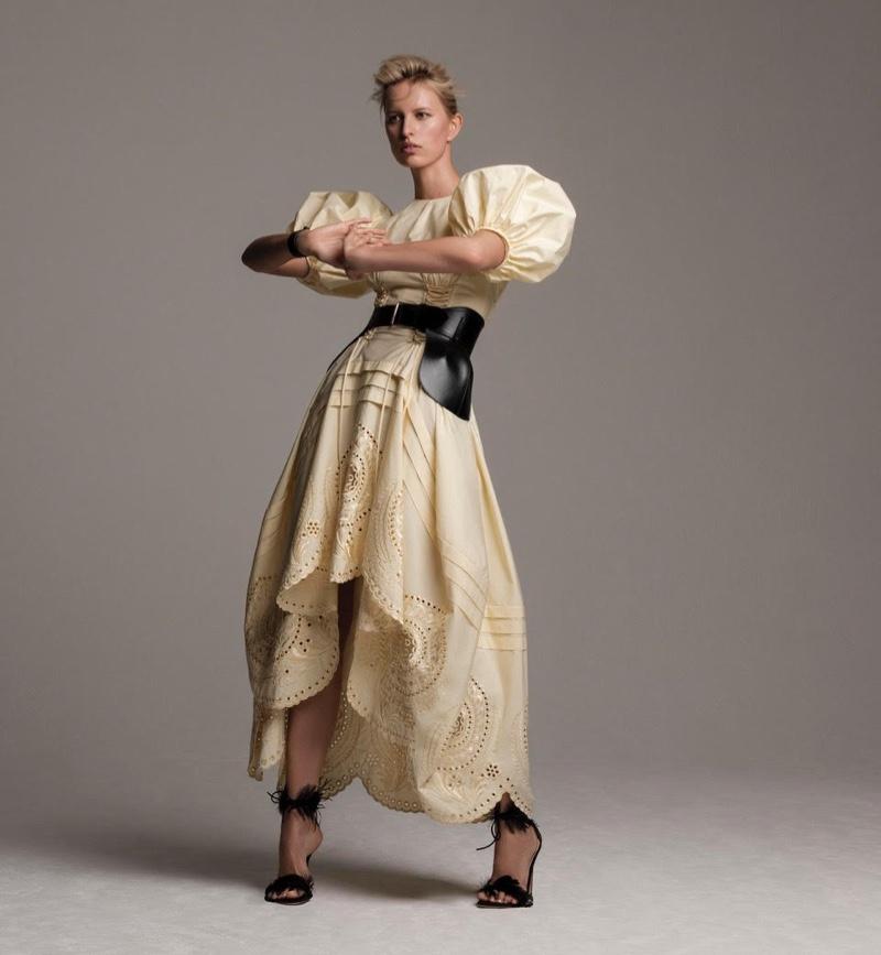 Karolina Kurkova Models Elegant Looks for Harper's Bazaar Spain