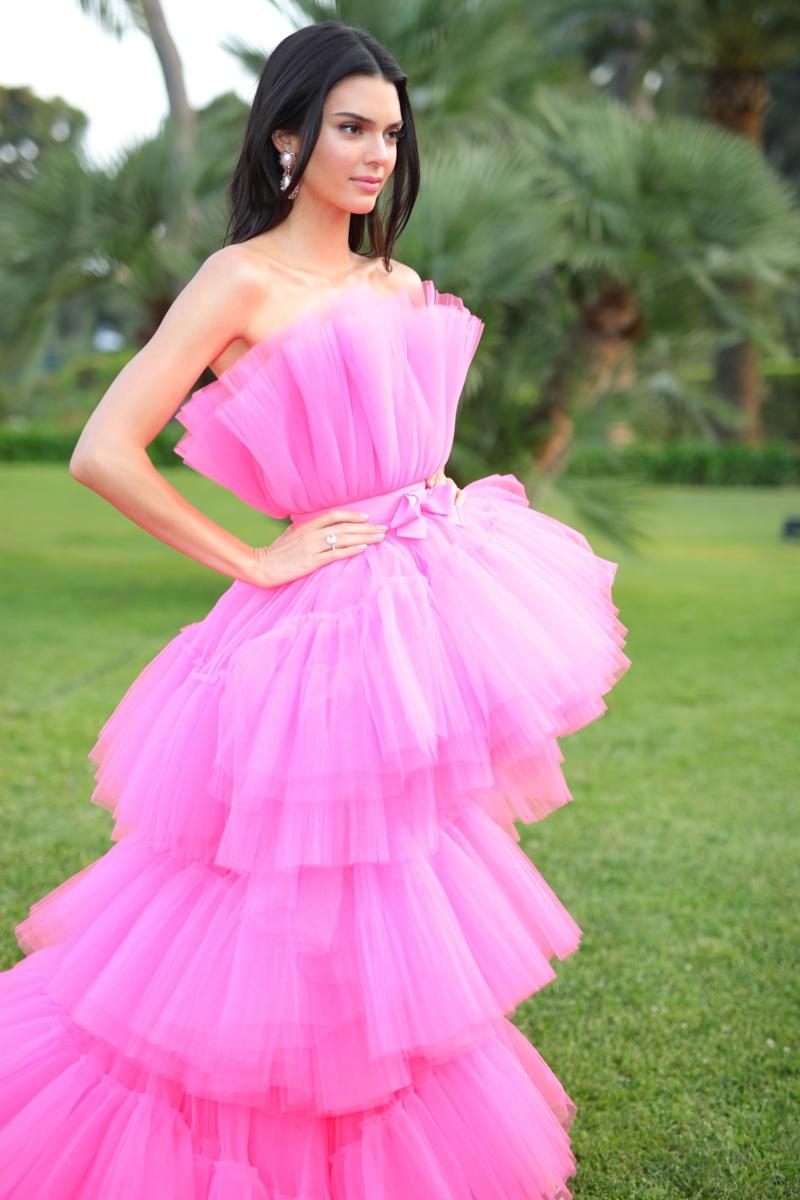 Model Kendall Jenner wears design from Giambattista Valli x H&M collaboration.