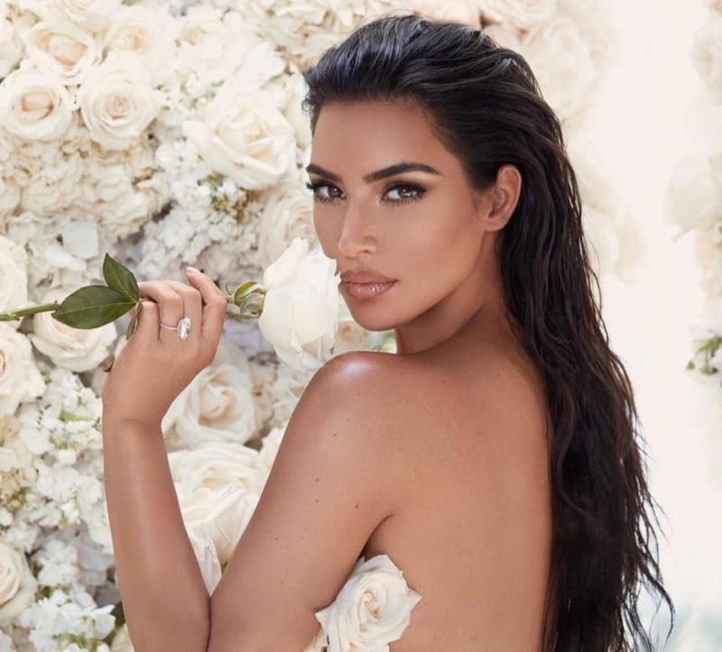 Kim Kardashian Blooms in KKW Beauty Bridal Makeup Campaign