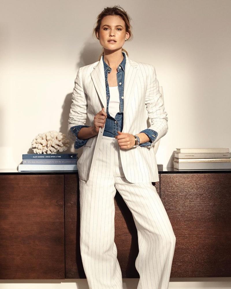 Suiting up, Behati Prinsloo fronts Lauren Ralph Lauren summer 2019 campaign