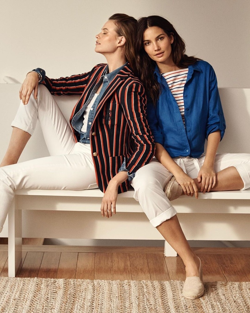 Behati Prinsloo & Lily Aldridge Chill in Lauren Ralph Lauren Summer '19 Ads