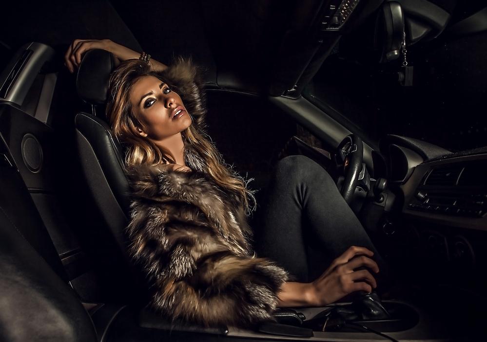 Luxurious Woman Fur Coat