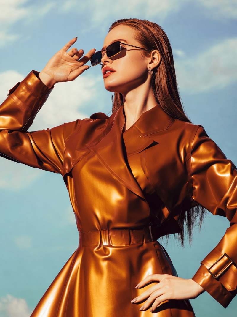 Actress Madelaine Petsch poses in latest Prive Revaux collaboration