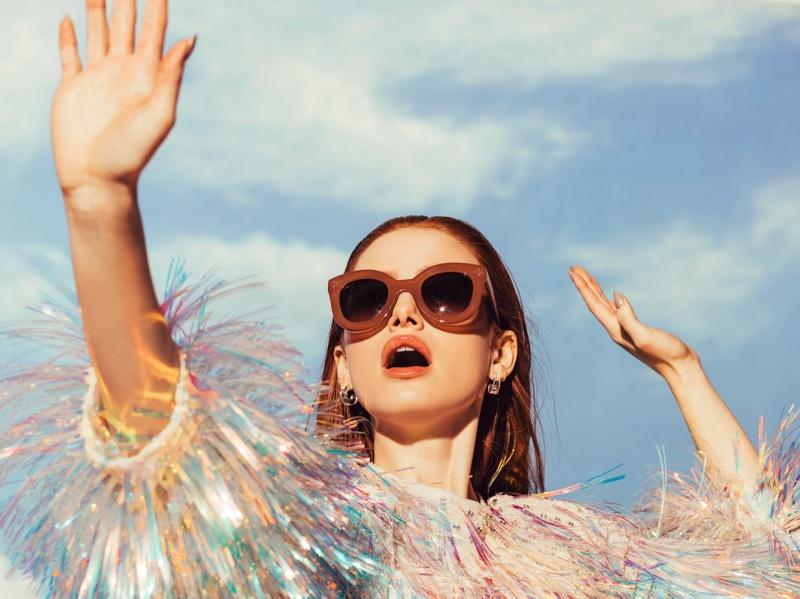 Riverdale star Madelaine Petsch models Prive Reveaux sunglasses