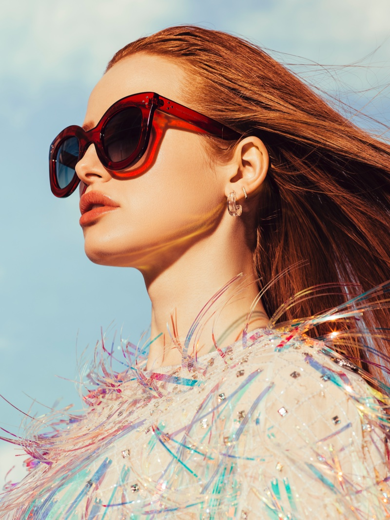 Madelaine Petsch x Prive Revaux Monroe sunglasses in red
