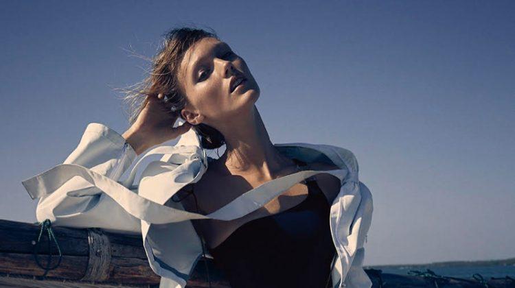 Maja Mayskar Tries On Summer Swimsuits for Grazia Italy