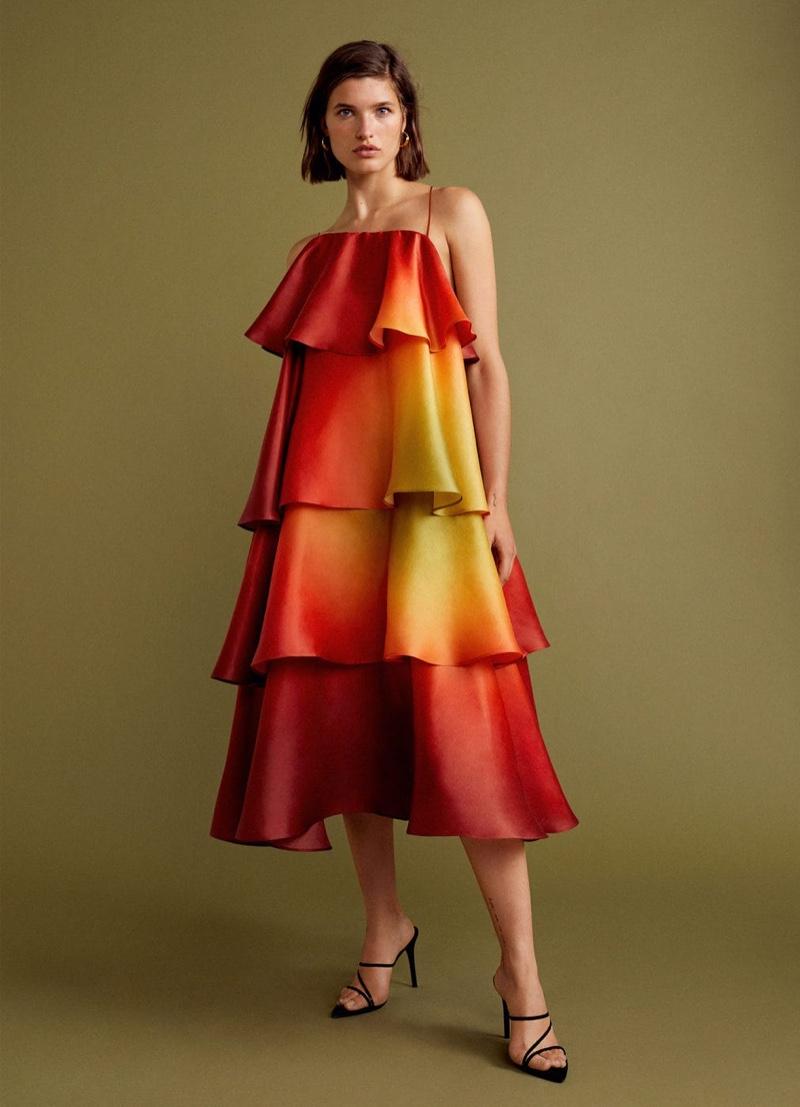 Julia Van Os wears Mango Gala collection