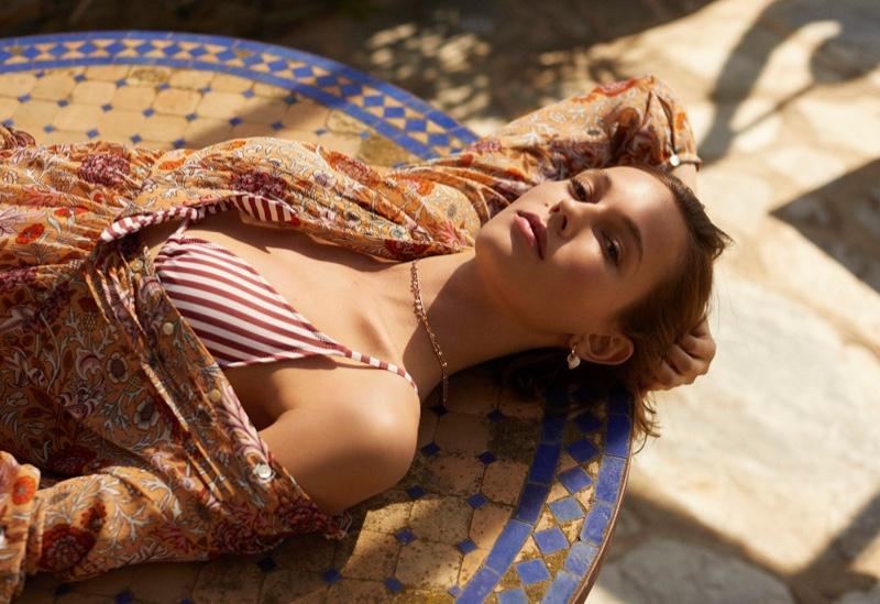 Mali Koopman stars in Mango swimwear 2019 loookbook