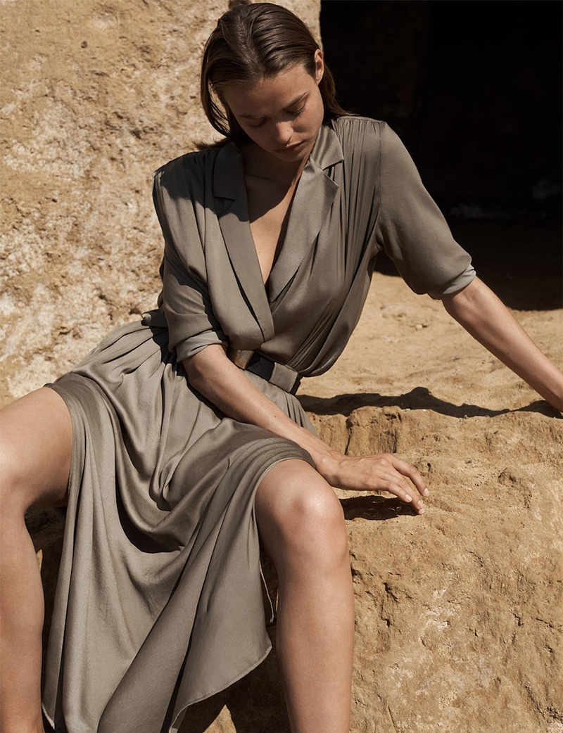 Model Birgit Kos fronts Massimo Dutti Limited Edition Volume II Collection
