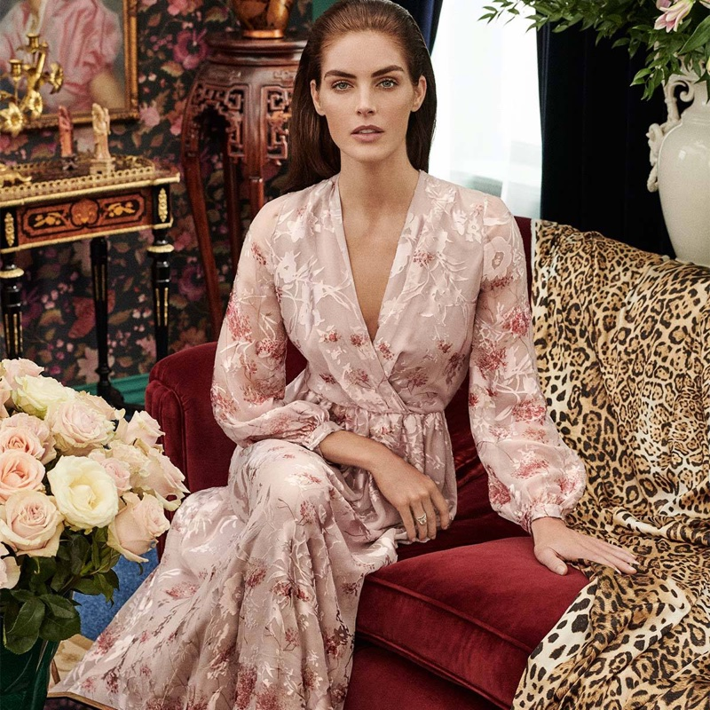 Dressed in pink, Hilary Rhoda wears Max Mara special occasion collection