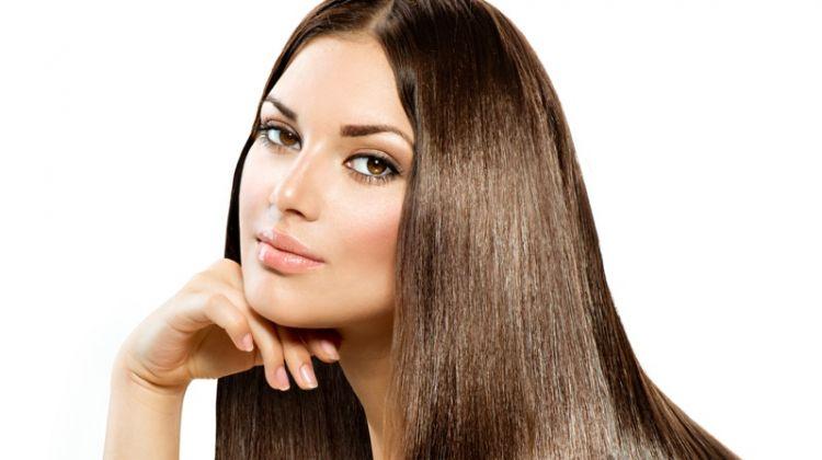 Model Beautiful Long Brown Straight Hair