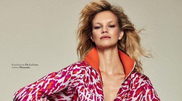 Nadine Leopold Embraces Bold Prints for ELLE Slovenia