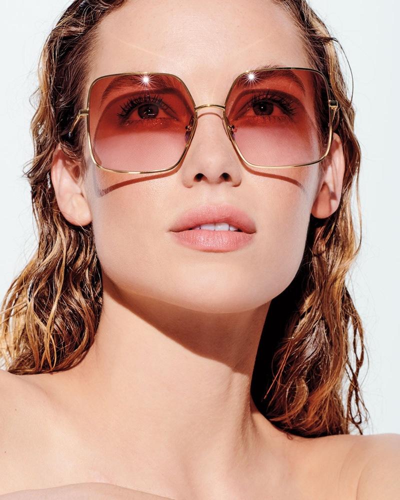 Celine Square Gradient Metal Sunglasses $460