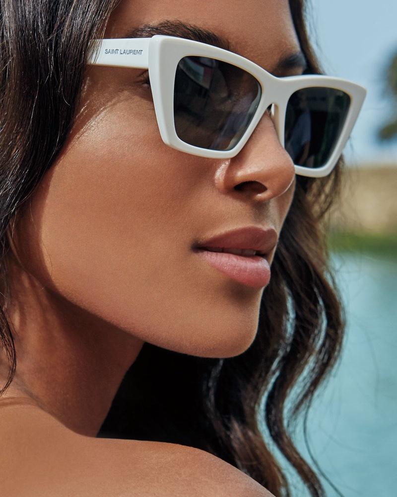 Saint Laurent Cat-Eye Acetate Sunglasses $350