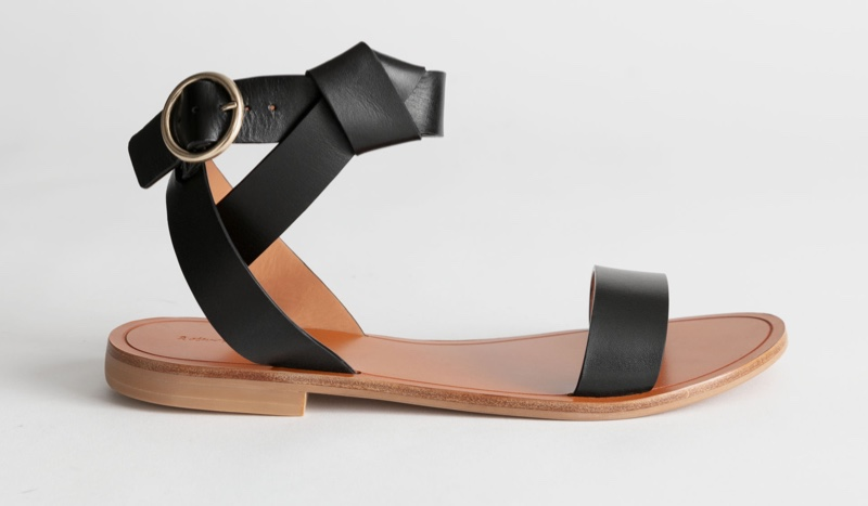 & Other Stories Knotted Leather Criss Cross Sandals $99