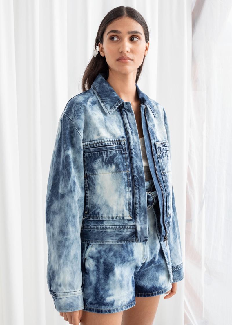 & Other Stories Tie Dye Organic Cotton Denim Jacket $99