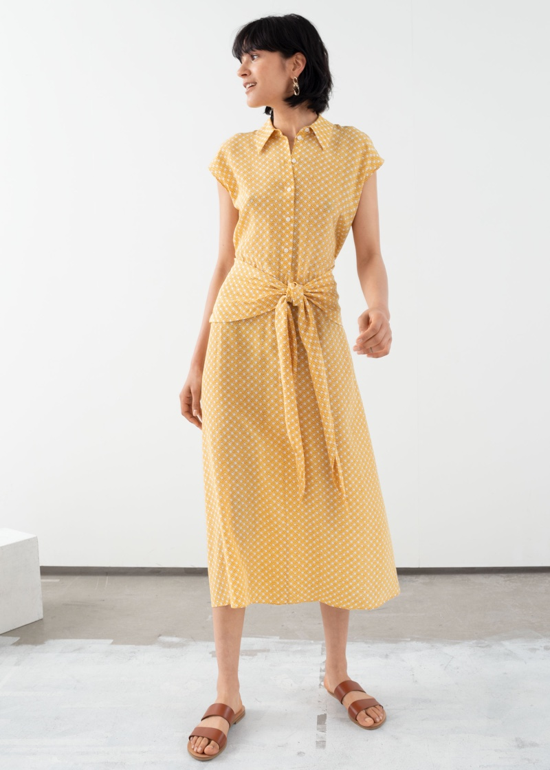 & Other Stories Waist Knot Midi Dress $119