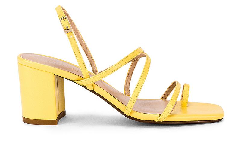 RAYE Portland Heel in Pale Yellow $168