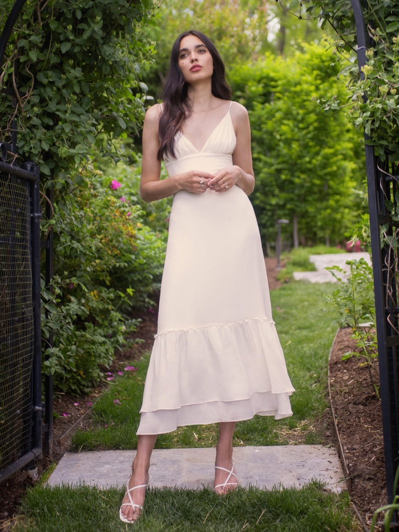 Reformation Chalet Dress in Ivory $278