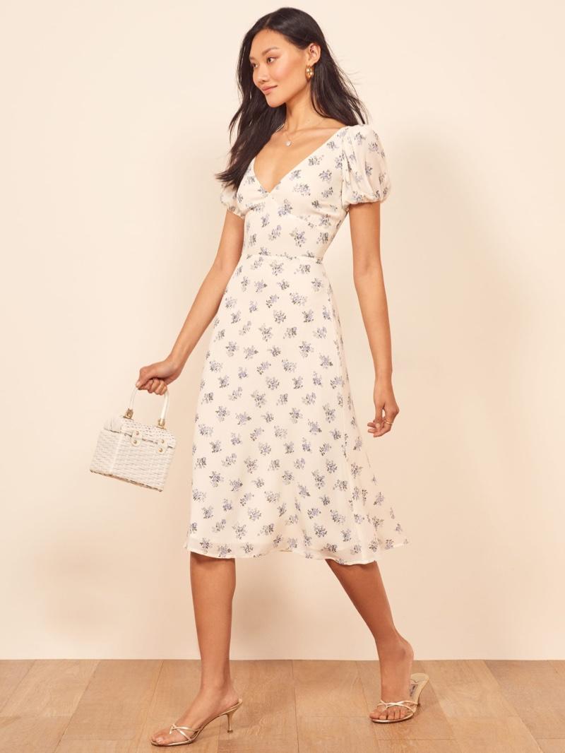 Reformation Kacey Dress in Teresa $218