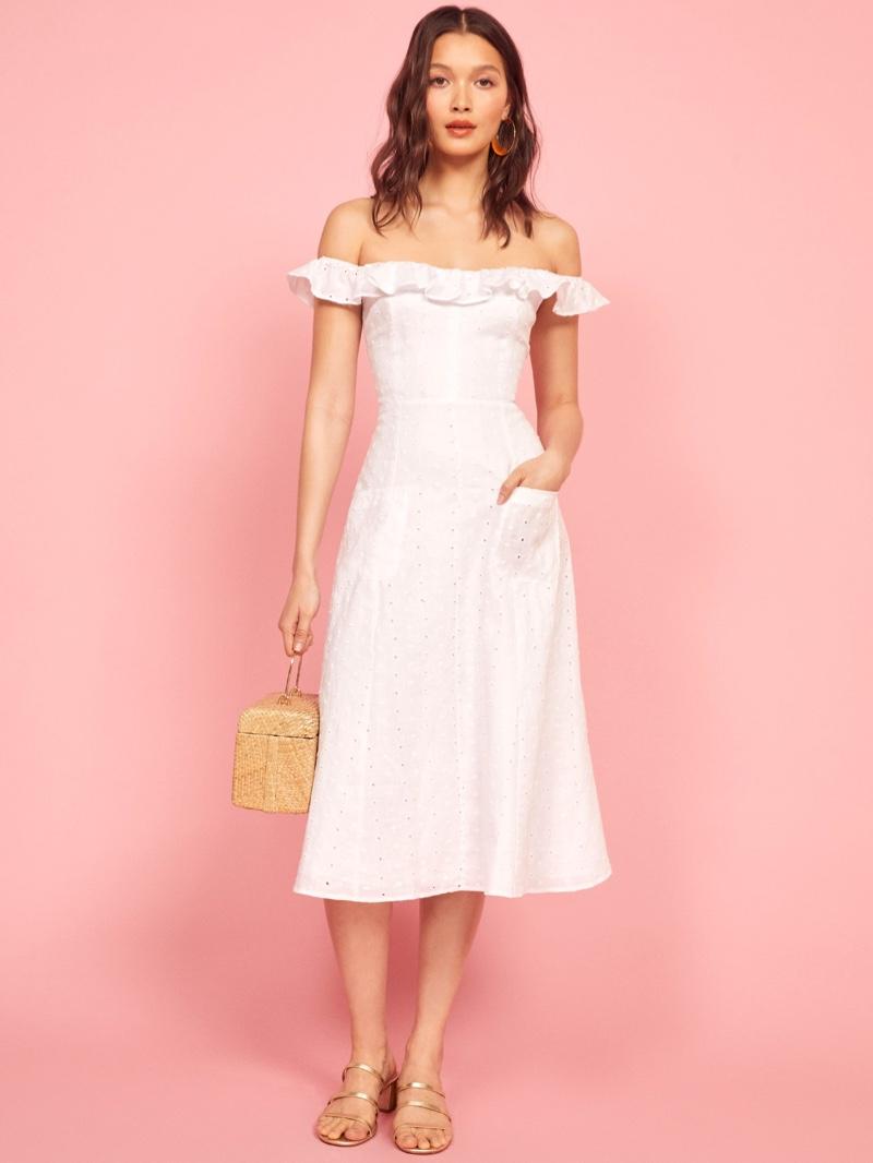Reformation Maldives Dress in White $218