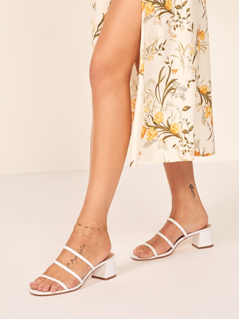 Reformation Menage Sandal in White $198