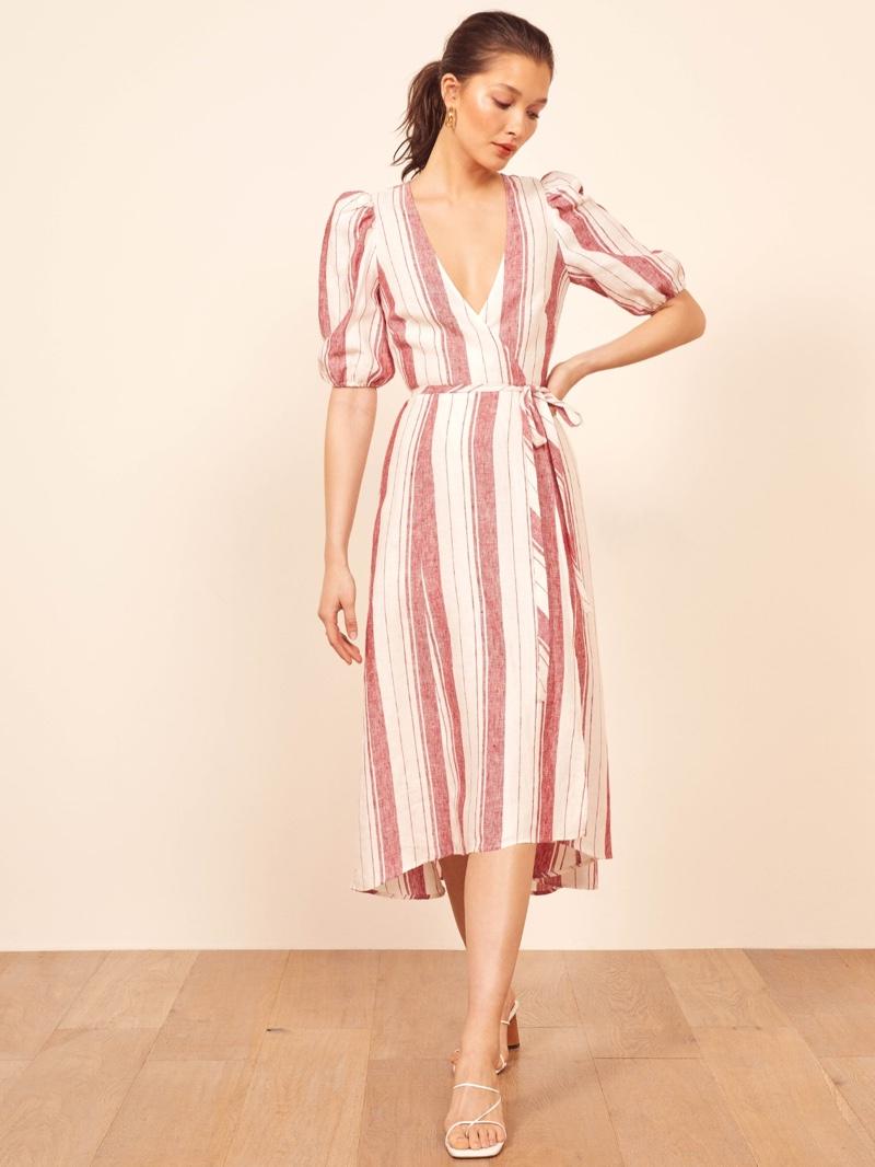 Reformation Waves Dress in Savannah Stripe $218