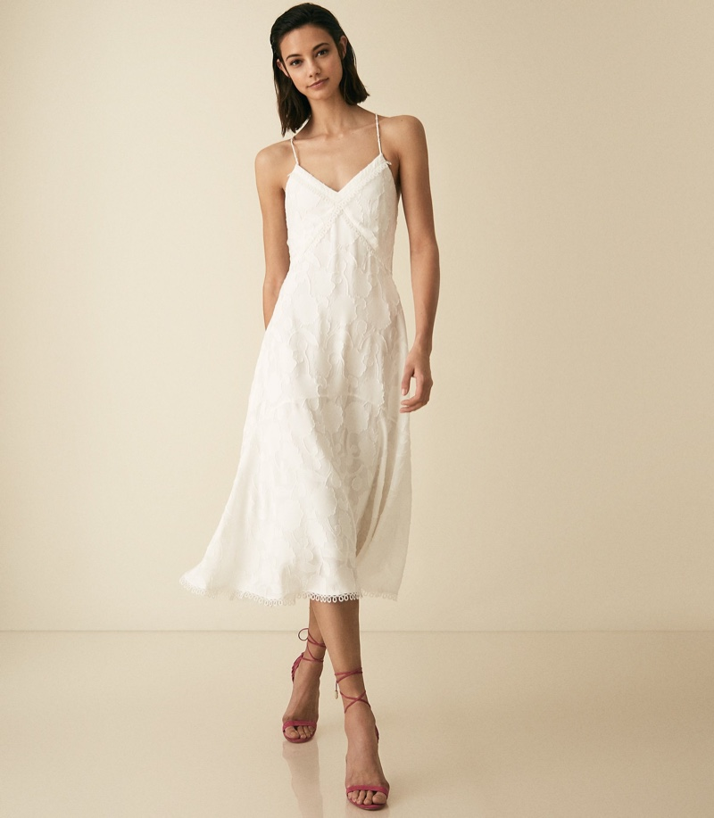 Reiss Ania Lace Detail Strappy Dress $370