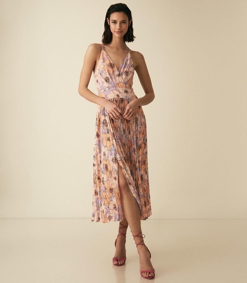 Reiss Corinne Floral Print Midi Dress $370