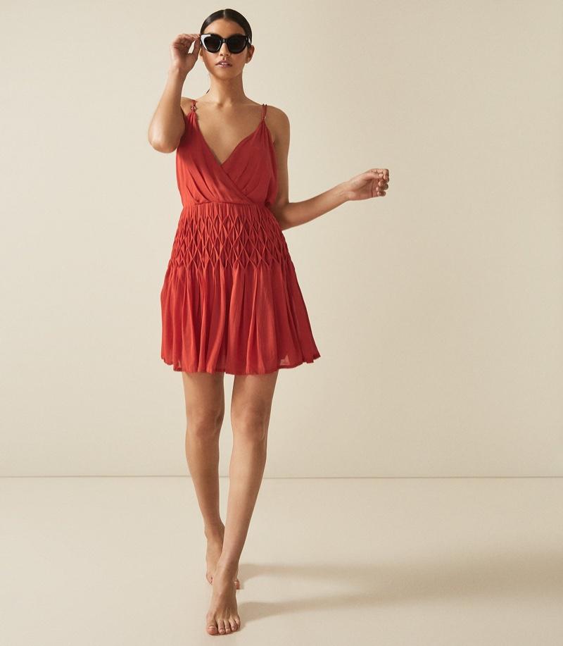 Reiss Danna Cross Back Mini Dress $295