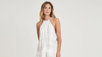 Reiss Gabriella Linen Blend Mini Dress $370