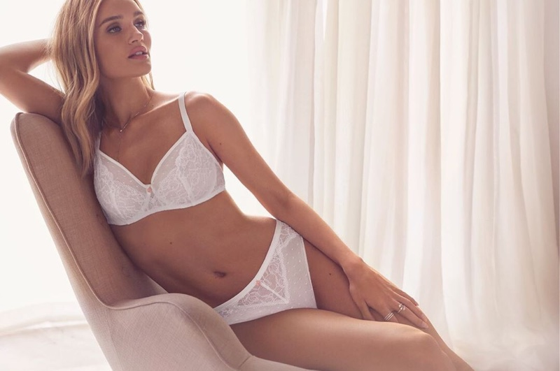 Rosie Huntington-Whiteley looks white-hot in Autograph Lingerie 2019 campaign